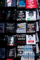 T Shirts on a London market stall